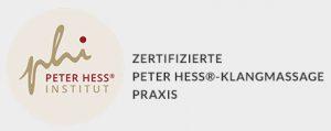 Zertifizierte Peter Hess®-Klangmassage Praxis